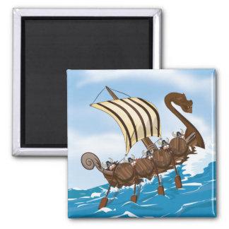 Viking Ship Cartoon Magnet