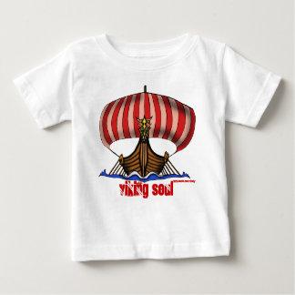 Viking ship funny baby t-shirt