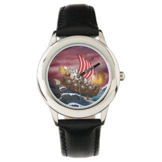 viking+ship+invasion+fleet,invasion,invasion+fleet wristwatch