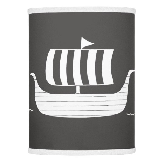 Viking ship longboat w/custom background color lamp shade | Zazzle.com