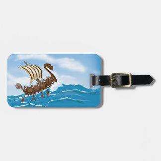 Viking Ship Luggage Tag
