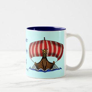 Viking ship mug design