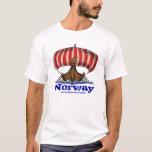 Viking ship norway cool t-shirt design