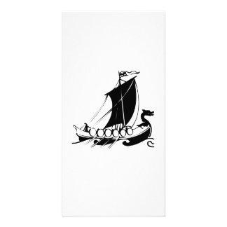 Viking Ship Photo Card Template