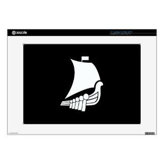 """Viking Ship Pictogram Latop Skin Decal For 15"""" Laptop"""