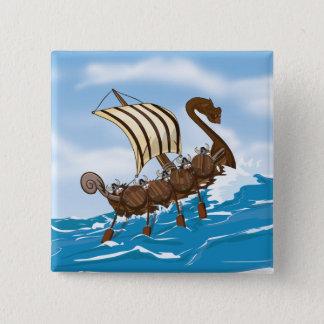 Viking Ship Pinback Button