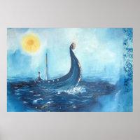 Viking Ship Poster