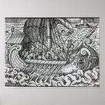 Viking Ship Print