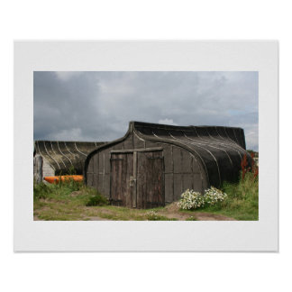 Viking Ship Shed 16x20 Poster