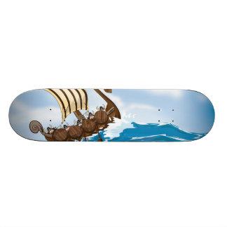 Viking Ship Skateboard Deck
