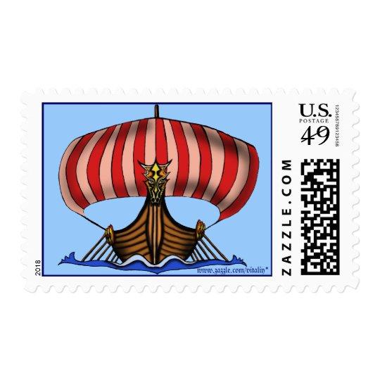 Viking ship stamp design