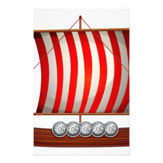Viking ship stationery