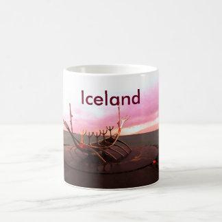 VIKING SHIP STATUE - ICELAND COFFEE MUG