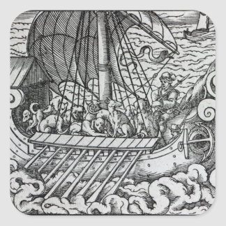 Viking Ship Square Sticker