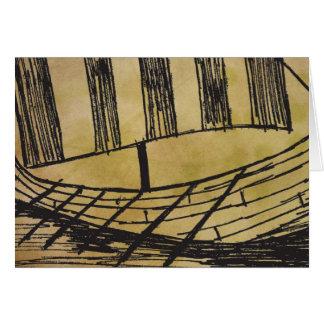 Viking Ship Visund Greeting Card