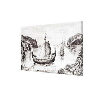 Viking Ships Canvas Print