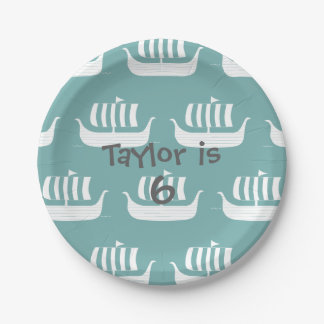 Viking ships paper plate 7 inch paper plate