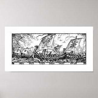 Viking Ships Print