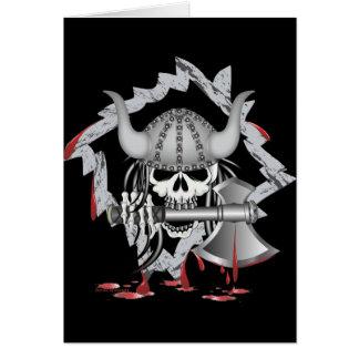 Viking Skull Greeting Card