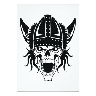 viking skull card