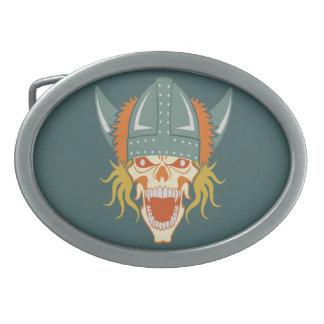VIKING skull custom belt buckle
