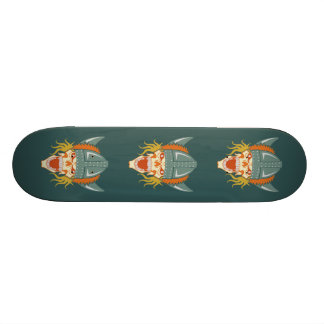 VIKING skull custom skateboard