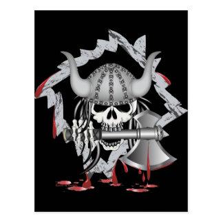Viking Skull Postcard