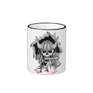 Viking Skull Ringer Mug