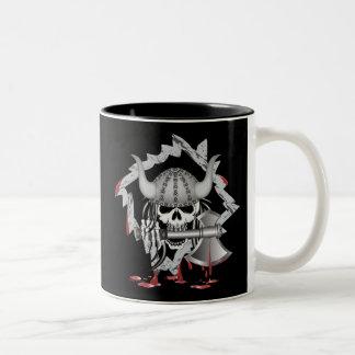 Viking Skull Two-Tone Coffee Mug