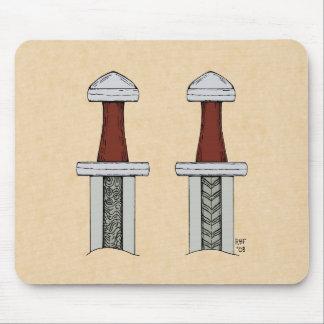 Viking Sword Pattern Welding Mouse Pad