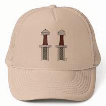 Viking Sword Pattern Welding Trucker Hat