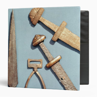 Viking swords, stirrup and spearhead binder