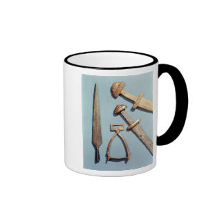 Viking swords, stirrup and spearhead coffee mugs