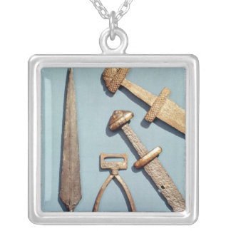 Viking swords, stirrup and spearhead pendants