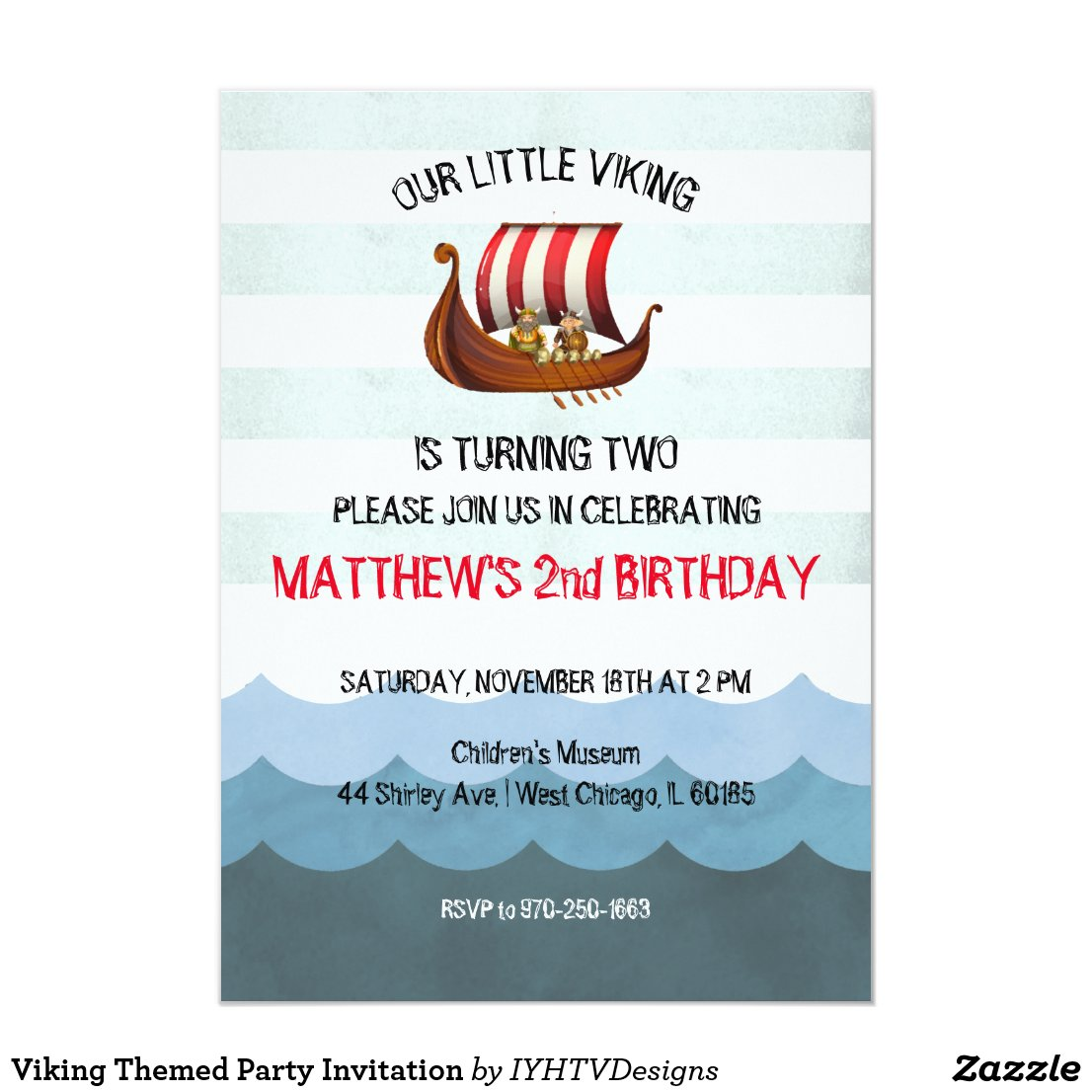 Viking Themed Party Invitation