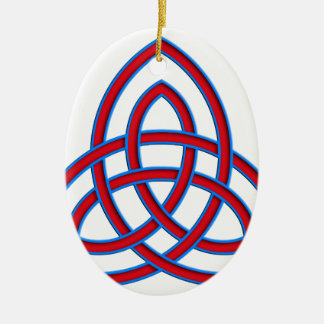 viking tribal celtic knot ceramic ornament