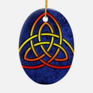 viking tribal knot ceramic ornament