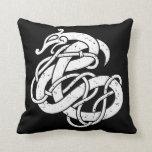 Viking Urnes Style Snake Throw Pillow