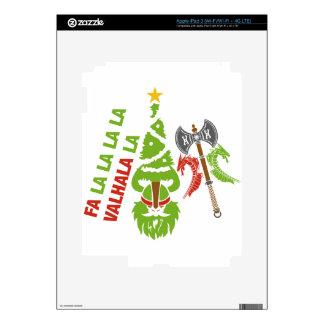 Viking Valhalla Christmas Holiday Decal For iPad 3