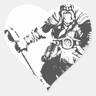 Viking Valhalla - Design 7 Heart Sticker