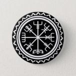 Viking Vegvisir Nautical Compass Button