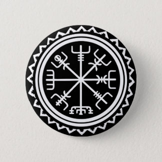Viking Vegvisir Nautical Compass Button
