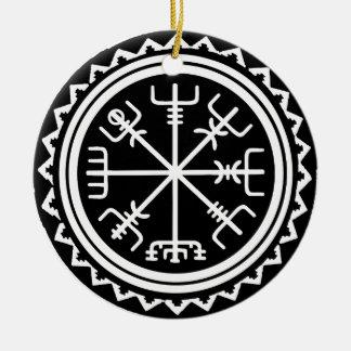 Viking Vegvisir Nautical Compass Ceramic Ornament