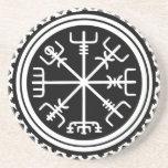 Viking Vegvisir Nautical Compass Coaster