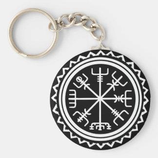 Viking Vegvisir Nautical Compass Keychain