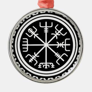 Viking Vegvisir Nautical Compass Metal Ornament