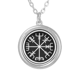Viking Vegvisir Nautical Compass Silver Plated Necklace
