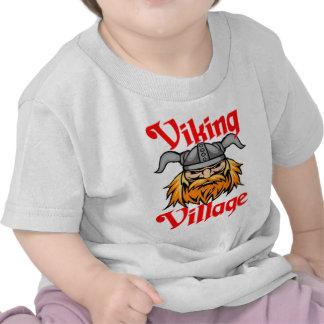 """Viking Village"" Mascot Logo T Shirts"