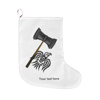 Viking War Hammer Thor Large Christmas Stocking