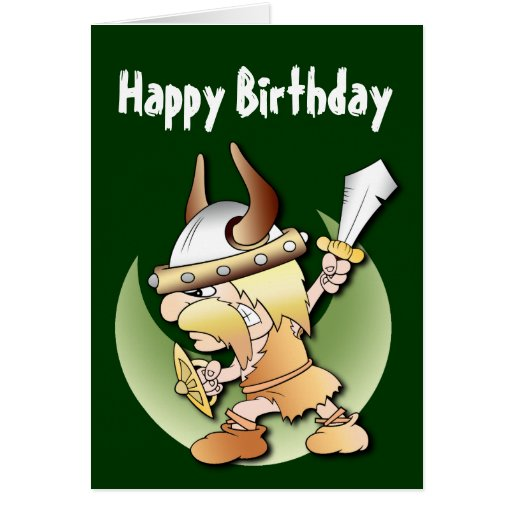 Pre-order today! Your design will be made and shipped as soon as our ...: zazzle.com/viking_warrior_birthday_greeting_cards-137349250952925190